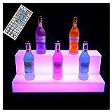 LSGMC Acryl 2 Tier LED beleuchteter Alkohol-Flasche Display...