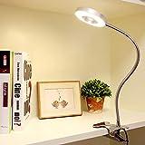 DLLT Leselampe Buch Klemme, 6W LED Klemmlampe Bett, 360° flexibler...