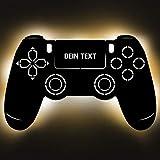 Gaming Controller 4 Lampe aus Holz - personalisierbares Geschenk für...