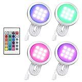 Li-xada 4PCS RGB LED Kabinett Licht Installationssatz mit...