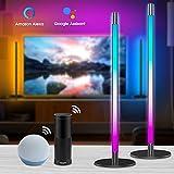 Alexa LED Lightbars(2er Pack), Dimmbar 16 Mio. RGB Farben Tischlampe /...