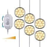 KWOKWEI LED Schrankleuchten, 6er Set Schrankbeleuchtung Schranklicht,...