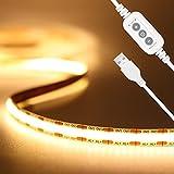 USB 5V LED Streifen Warmweiss 2M,PAUTIX 640LEDs Dimmbar COB LED Strip...