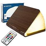 Buchlampe Holz mit Farbwechsel 12 Farben und Timer - BONNYCO | LED...