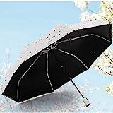 YAN Automatischer Regenschirm-faltender Sonnenschirm-weiblicher...