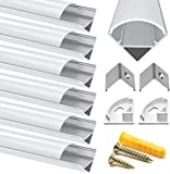 Chesbung LED Aluminium Profil 1m, 6er Pack in V-Form für...