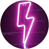 Lightning Bolt Leuchtreklamen Pink Lightning Shape Leuchtreklame Art...