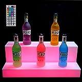 HSGAV LED beleuchteter Alkohol-Flasche Display Beleuchtetes Flasche...