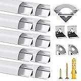 Chesbung LED Aluminium Profil 1m, 10er Pack in V-Form für...