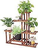 Wisfor Blumentreppe Holz Pflanzentreppe Indoor Blumenregal 6 Ebenen...
