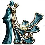 WQQLQX Statue Skulptur Keramik Figure Hochzeitstag Ihr Geburtstag...