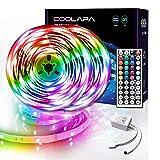 LED Strip 20M, COOLAPA LED Streifen, LED Band Steuerbar mit 44-Tasten...