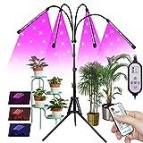 Pflanzenlampe LED mit Ständer, 4 Köpfe Vollspektrum Grow Lampe für...