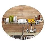 N/Z Home Equipment Dish Drainer Rack Wandmontage Edelstahlregal Steel...