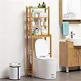 Haushaltsgeräte Nordeuropa Badezimmerregale Bambus über der Toilette...