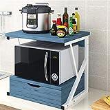 N/Z Haushaltsgeräte Küchenregal Holzlagerregal mit Schublade und...