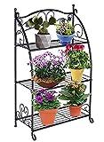 DOEWORKS 3 Etagen Metall Pflanzenständer Blumentreppen Blumentopf...