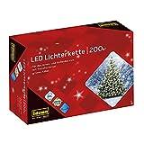 Idena 8325066 - LED Lichterkette mit 200 LED in warmweiß, mit 8...