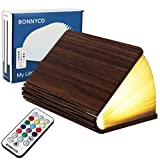 Buchlampe Holz mit Farbwechsel 12 Farben und Timer – BONNYCO | LED...