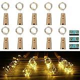 Vicloon LED Flaschen-Licht,【12 Stück】Flaschenlichter 2M 20 LEDs...