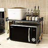 E-MANIS Metall Mikrowelle Rack Stand Regal erweiterbar Küche liefert...