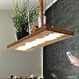 LED Hängelleuchte Esstisch Pendelleuchte Holz Rustikal Dimmbar 40W...