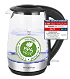Emerio WK-123131, Glas Wasserkocher 1.7L, BPA frei, bestes...