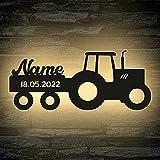 LED Deko Schlummerlicht Nachtlicht Name Traktor Traki der Traktor...