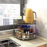 HomeMagic Küchenschrank-Organizer, 2 Etagen, Küchen Eckregal,...