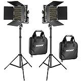 Neewer 2 Stücke Bi-Farbe 660 LED Videoleuchte und Ständer-Kit: (2)...