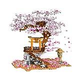 Seciie 1167+Pcs Sakura Baum Bausteine mit Bauplatten Kirschblüte...