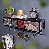 Wandregal Schweberegal Bücherregal Aufhänger mit Schublade Display...