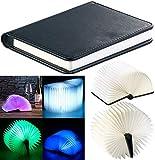 Lunartec Buchlampe: Klappbare LED-Stimmungsleuchte im Buch-Design, 5...