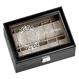 Murrano Uhrenbox mit Gravur für 12 Uhren - 30x20x8cm - Uhrenkasten...
