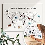 Weltkarte Reiserinnerung: 'collect moments' - Reiseweltkarte zum...