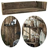 LS-LebenStil Holz Wand-Regal Ziegelform Braun 45cm Wandboard Box...