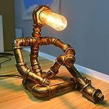 PIPRE Vintage Industrial Tischlampe Steampunk Roboter...