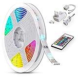 B.K.Licht LED Strip 5m, RGB Streifen, Strips, Band mit Farbwechsel,...