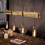 GBLY Vintage Pendelleuchte Holz Esstischlampe Retro Hängeleuchte mit...