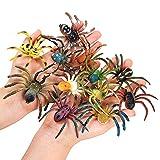 JOKFEICE Spinne Spielzeug 12 Stück realistische Spinnenfiguren Bunte...