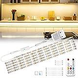 Wobsion LED Unterbauleuchte, 3m Warmweiß LED Streifen, SchrankLicht...