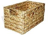KMH®, Praktische Korb-Box Hidalgo aus geflochtener Wasserhyazinthe...