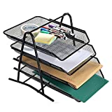AGPtek 4 Schubfächer Briefablage Organizer, Metall Mesh, Schreibtisch...