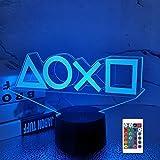 FULLOSUN Illusion-Nachtlicht 3D,LED-Tisch-Lampen, 16 Farben USB-Lade,...