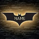 LED Deko Schlummerlicht Nachtlicht Batman Fledermaus, personalisiert...
