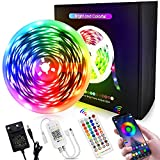 LED Streifen 10m, Masqudo 5050 RGB LED Strip, Fernbedienung & App...