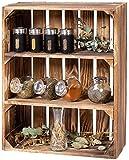 LAUBLUST Gewürzregal Holz Vintage - ca. 40 x 17 x 50 cm, Holzregal...