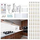WOBANE Unterbauleuchte küche LED Lichtleiste, 6x50cm Dimmbare...