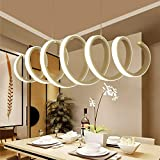 Pendelleuchte Dimmbar LED Acryl Spiral Kronleuchter Esszimmerlampe...