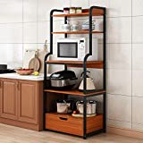 N/Z Home Equipment Küchenregal Utility Storage Regal 5-Tier-Regal mit...